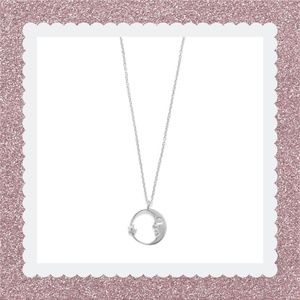 .925 Sterling Silver Crescent Moon Necklace
